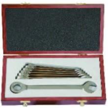 Набор титановых комбинированных ключей с храповиком